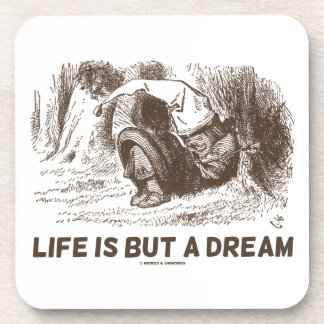 Life Is But A Dream (Red King Snoring Wonderland) Drink Coaster