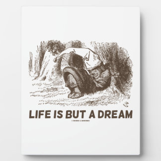 Life Is But A Dream (Red King Snoring Wonderland) Plaque