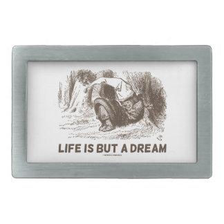 Life Is But A Dream (Red King Snoring Wonderland) Rectangular Belt Buckle