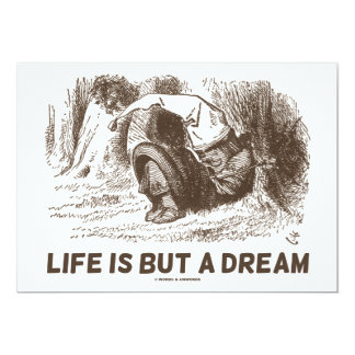 Life Is But A Dream (Wonderland Sleeping Red King) Card