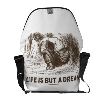 Life Is But A Dream (Wonderland Sleeping Red King) Courier Bag