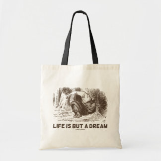 Life Is But A Dream (Wonderland Sleeping Red King) Tote Bag