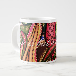 Life is but a weaving. giant coffee mug