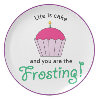 Life is Cake Plate