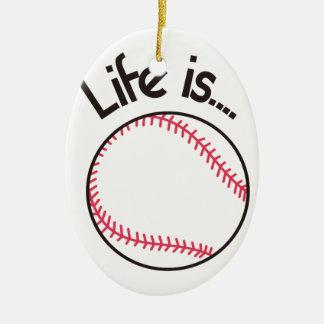Life is… ceramic ornament