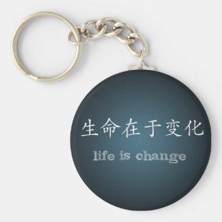 Life is Change Basic Round Button Keychain