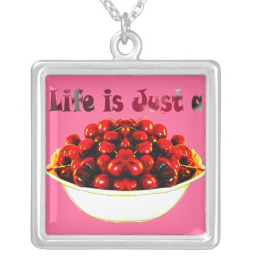 Life is...Cherries Necklace