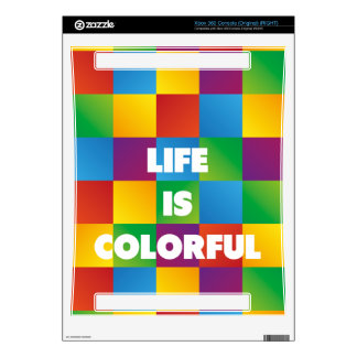 Life is Colorful Skin For Xbox 360 Console