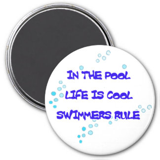 Life is Cool Round Magnet