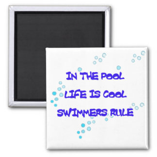 Life is Cool Square Magnet