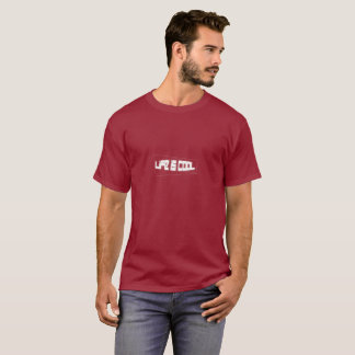 Life is cool (White on Maroon) T-Shirt