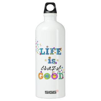 Life is Crazy Good Aluminum Water Bottle