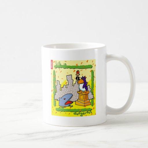 Life Is Dangerous Classic White Coffee Mug