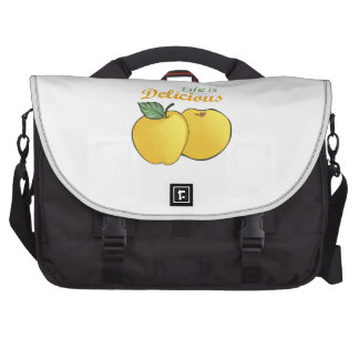 LIFE IS DELICIOUS COMPUTER BAG