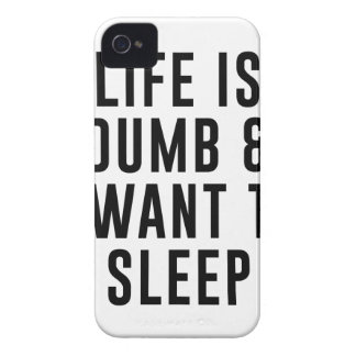 Life Is Dumb iPhone 4 Cover