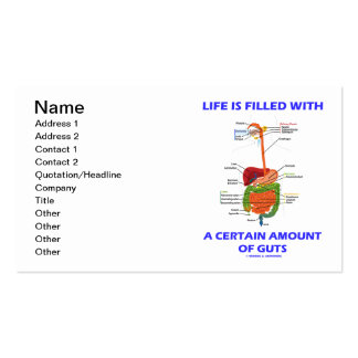 Life Is Filled With A Certain Amount Of Guts Double-Sided Standard Business Cards (Pack Of 100)