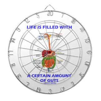 Life Is Filled With A Certain Amount Of Guts Dartboard With Darts