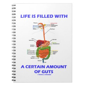 Life Is Filled With A Certain Amount Of Guts Spiral Note Books