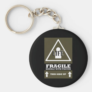 Life is Fragile Basic Round Button Keychain