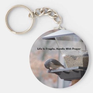 Life Is Fragile, Handle With P... Basic Round Button Keychain
