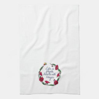 Life is Fragile Handle with Prayer Poppy Wreath Towel