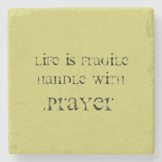 """Life is Fragile"" Marble Stone Coaster"