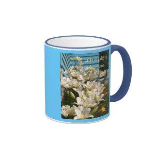 Life is full of abundance, Day Lily Mugs