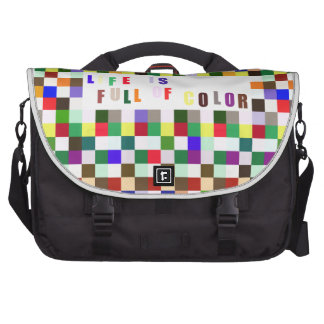 Life Is Full of Color Laptop Commuter Bag