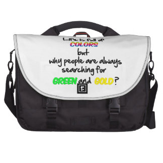 Life is full of colors laptop bag