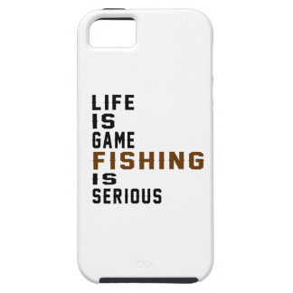 Life is game Fishing is serious iPhone 5 Case