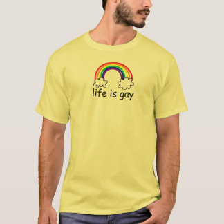 LIFE IS GAY PRIDE EQUALITY RAINBOW CLOUDS T-Shirt