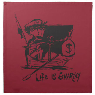 Life is Gnarley Cloth Napkin