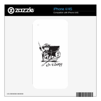 Life is Gnarley Decals For The iPhone 4S