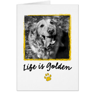 Life Is Golden (Retriever) Greeting Card