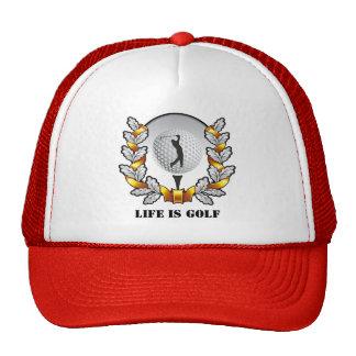 Life is Golf Golfer Ball Tee Ball Cap Trucker Hat