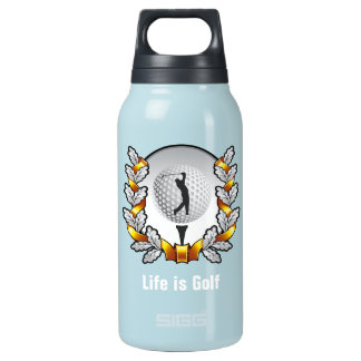 Life is Golf Golfer Ball Tee Insulated Water Bottle