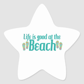 Life is good at the Beach Star Stickers