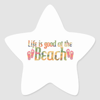 Life is good at the Beach Stickers