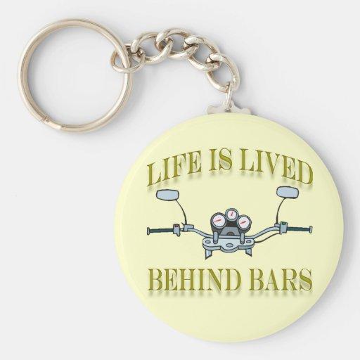 Life Is Good Behind Bars Motorcycle Handlebars Keychain