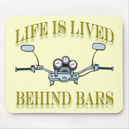 Life Is Good Behind Bars Motorcycle Handlebars Mouse Pad
