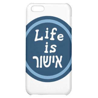 Life is good in Hebrew iPhone 5C Case