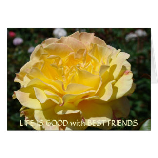 LIFE IS GOOD with BEST FRIENDS Greeting Cards