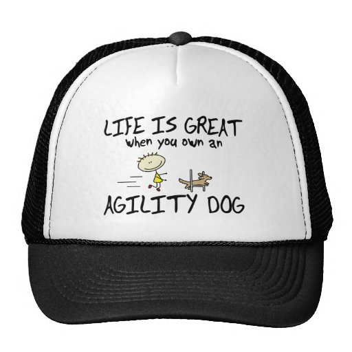 Life is Great Agility Dog Hat