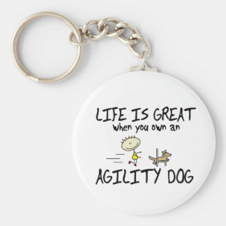 Life is Great Agility Dog Keychain