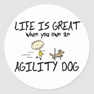 Life is Great Agility Dog Stickers