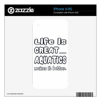 Life Is Great Aquatics Makes It Better. Skin For The iPhone 4