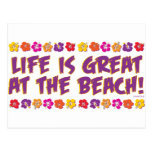 Life is great at the beach! postcards