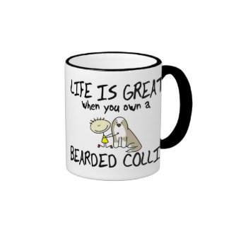 Life is Great Bearded Collie Mug (Fawn)
