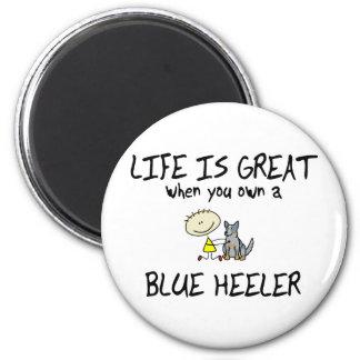 Life is Great Blue Heeler Refrigerator Magnet