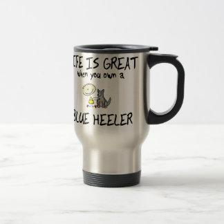 Life is Great Blue Heeler Travel Mug